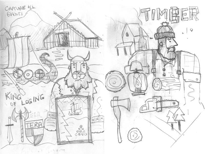 Timber sketches
