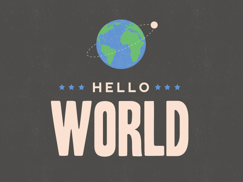 Hello world slide