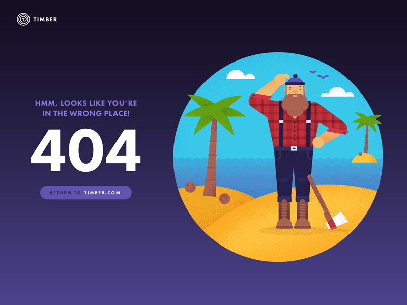 Timber 404 page
